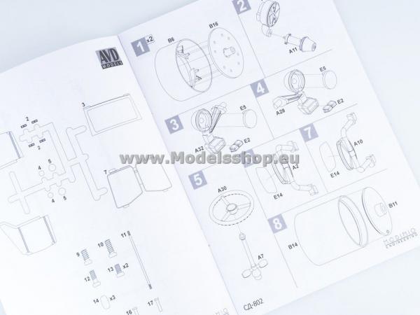 Kit macheta cilindru compactor SD-802, scara 1:43 7