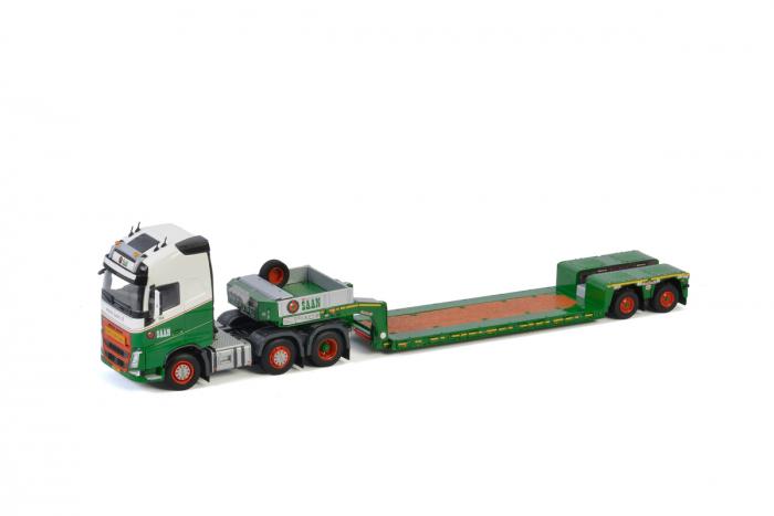 Macheta cap tractor Volvo FH4 6x4 cu traiiler Goldhoffer, scara 1;50 [0]