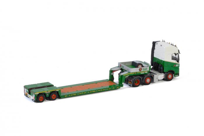 Macheta cap tractor Volvo FH4 6x4 cu traiiler Goldhoffer, scara 1;50 [1]