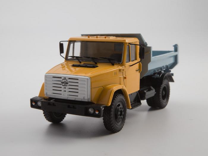 Macheta auto basculanta ZIL-MMZ-4508, scara 1:43 6