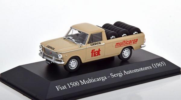 Macheta auto camioneta Fiat 1500 Multicarga, scara 1:43 0
