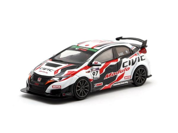 Macheta auto de raliu Honda Civic Type R 2017 Super Taikyu, scara 1:464 0
