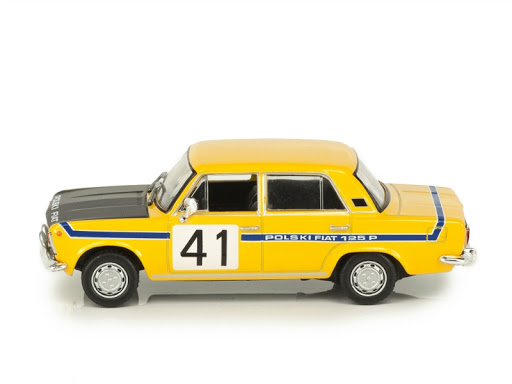 Macheta auto Fiat Polski 125P raliu, scara 1:43 [1]