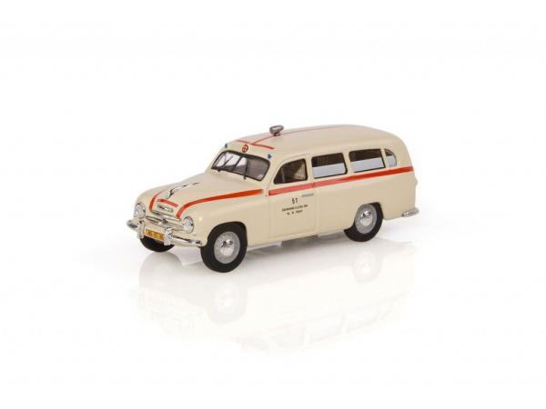 Macheta auto Skoda 1201 ambulanta 1956, scara 1:43 0
