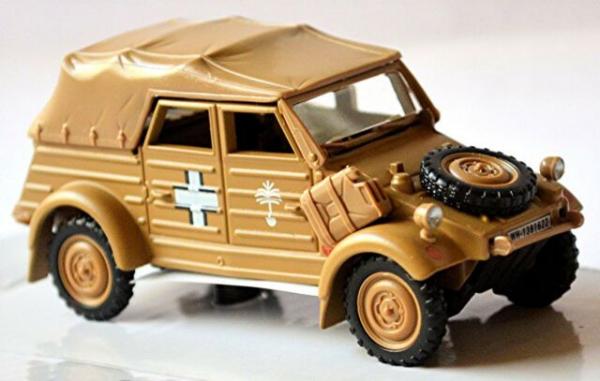 Macheta auto VW Kubel 1941 bej (desert) cu prelata, scara 1:43 0
