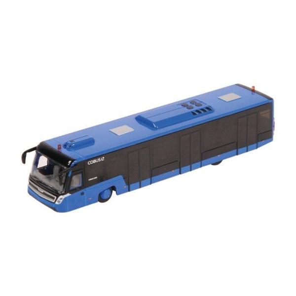Macheta autobuz aeroport Cobus 3000 albastru, scara 1:87 0