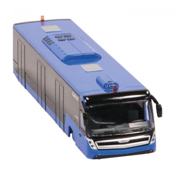 Macheta autobuz aeroport Cobus 3000 albastru, scara 1:87 3
