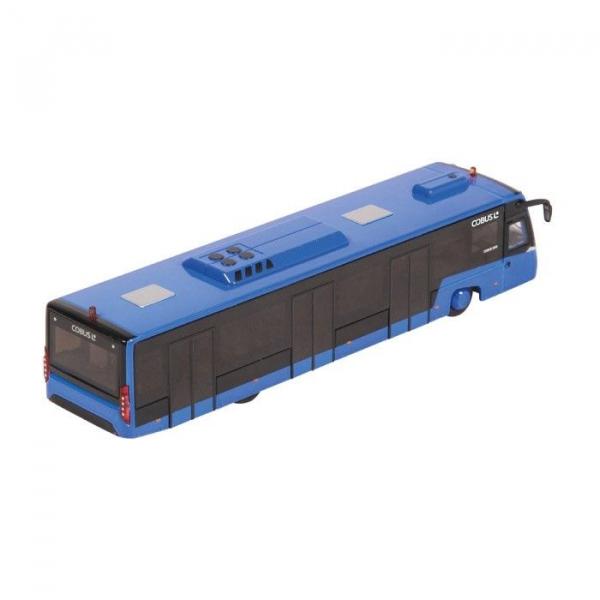 Macheta autobuz aeroport Cobus 3000 albastru, scara 1:87 1