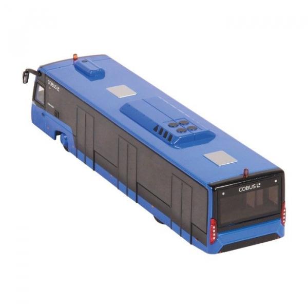 Macheta autobuz aeroport Cobus 3000 albastru, scara 1:87 2