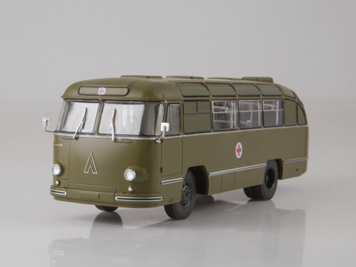 Macheta autobuz LAZ 695-B ambulanta militara, scara 1:43 2