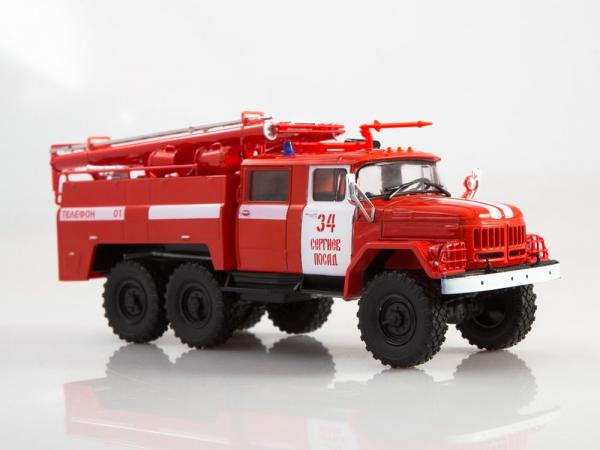 Macheta autospeciala pompieri AC-40 pe sasiu ZIL-131, scara 1:43 0