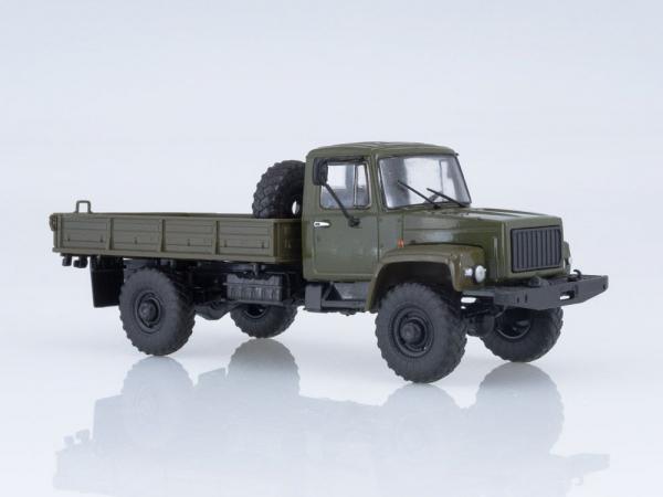 Macheta camion cu prelata GAZ-3308, scara 1:43 3