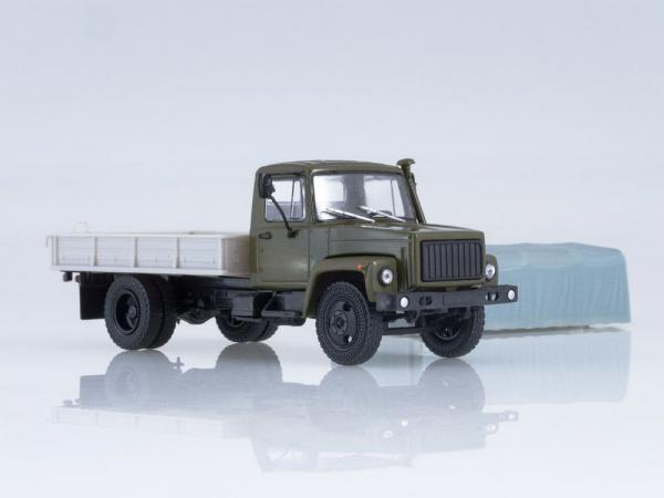 Macheta camion cu prelata GAZ-3309, scara 1:43 3