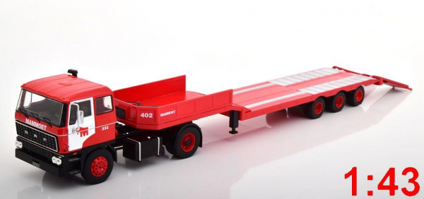 Macheta camion DAF 2800 cu trailer, scara 1:43 1