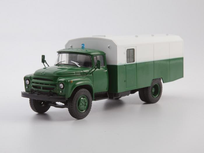 Macheta camion ZIL 130G duba de militie, scara 1:43 0