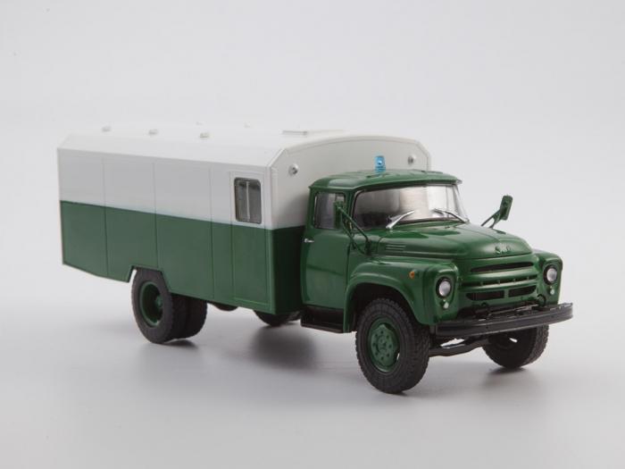 Macheta camion ZIL 130G duba de militie, scara 1:43 2