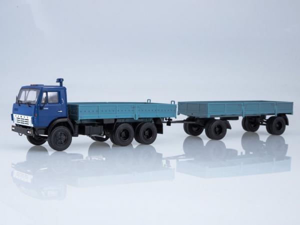 Macheta camion Kamaz 5320 cu remorca, scara 1:43 0