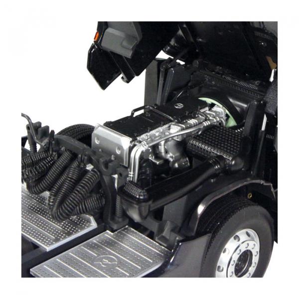 Macheta camion Mercedes Actros cu semiremorca transport auto, scara 1:18 11
