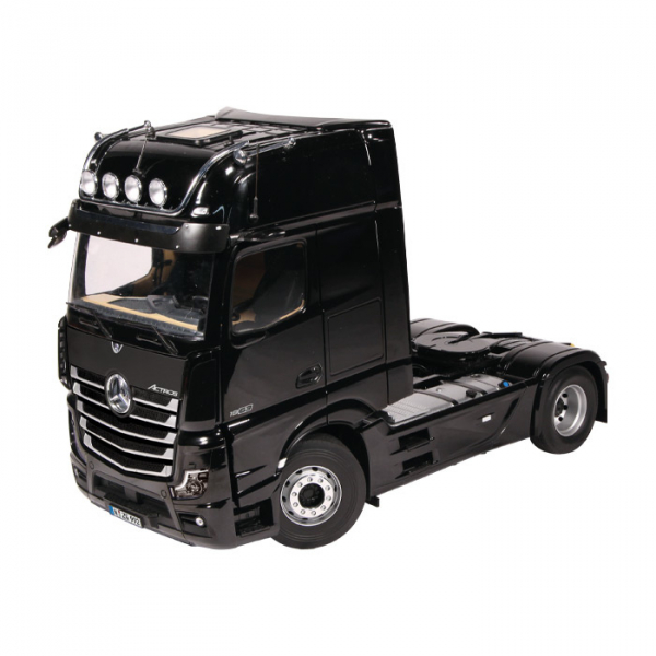 Macheta camion Mercedes Actros cu semiremorca transport auto, scara 1:18 10