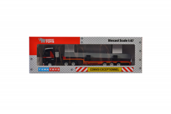 Macheta camion Mercedes Actros MP4 cu trailer telescopic si grinda, scara 1:87 4