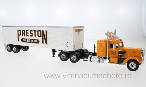 Macheta camion Peterbilt 350 cu semiremorca, scara 1:43 0