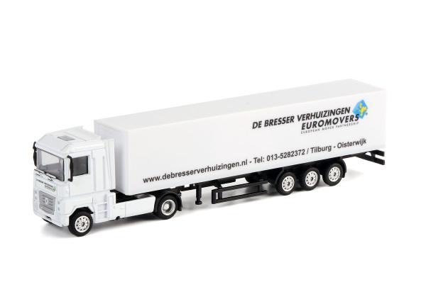 Macheta camion Renault Magnum cu semiremorca vagon, scara 1:87 0