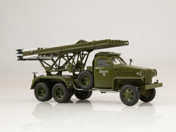 Macheta camion Studebaker cu lansator de rachete BM-13  Katiusa, scara 1;43 2
