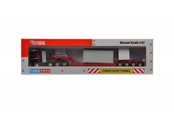 Macheta camion Volvo FH4 Globetrotter cu trailer telescopic si container, scara 1:87 4