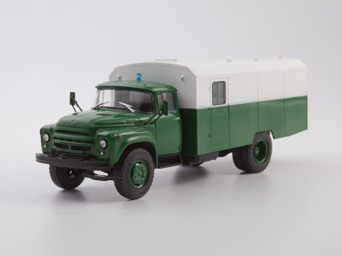 Macheta camion ZIL 130G duba de militie, scara 1:43 18