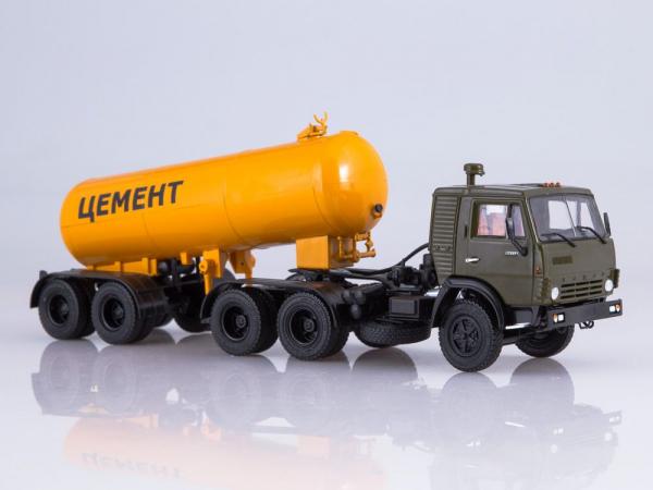 Macheta cap tractor Kamaz 54112 cu cimentruc, scara 1:43 0