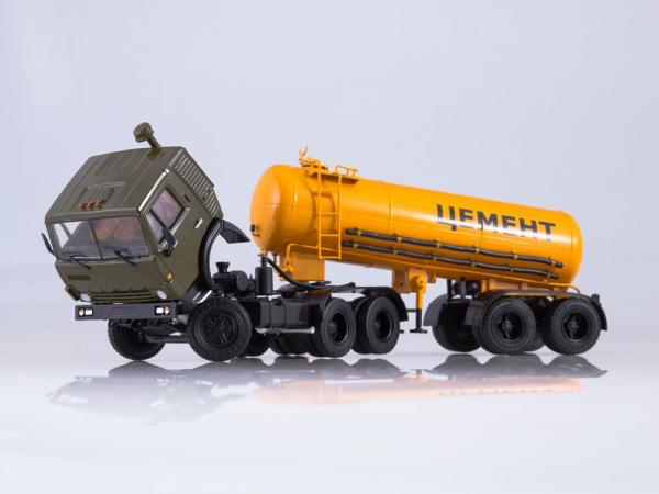Macheta cap tractor Kamaz 54112 cu cimentruc, scara 1:43 3