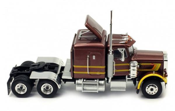 Macheta cap tractor Peterbilt 359 visiniu, scara 1:43 1