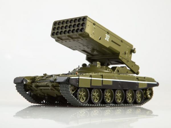 Macheta lansator de rachete rusesc T90-TOS1A, scara 1:43 0