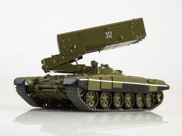 Macheta lansator de rachete rusesc T90-TOS1A, scara 1:43 1