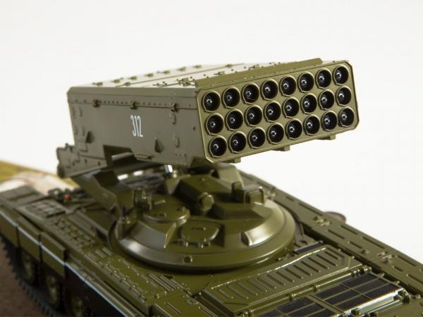 Macheta lansator de rachete rusesc T90-TOS1A, scara 1:43 3