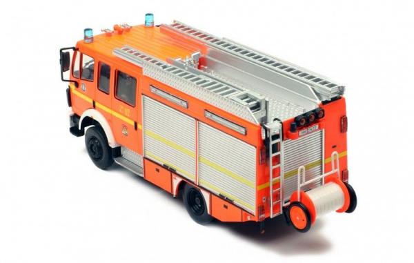 Macheta masina pompieri Mercedes LF12/12, scara 1:43 3