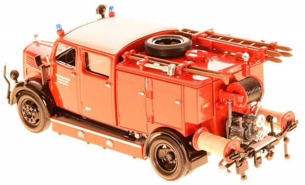 Macheta masina pompieri Mercedes TLF-15, scara 1:43 1