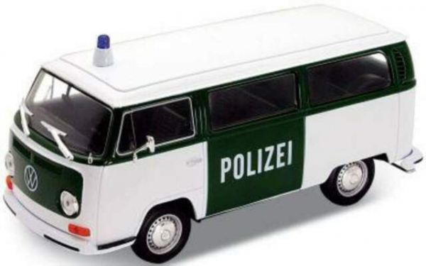 Macheta minibus Volkswagen T2 Polizei, scara 1:24 0