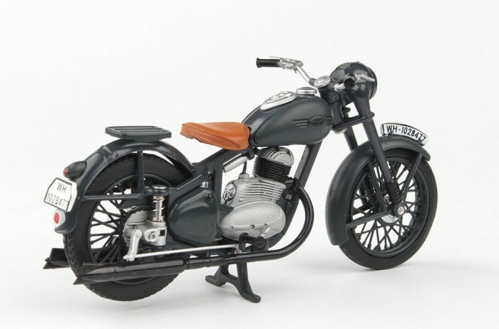 Macheta motocicleta Jawa 250 Perak  Wermacht, scara 1:18 [1]