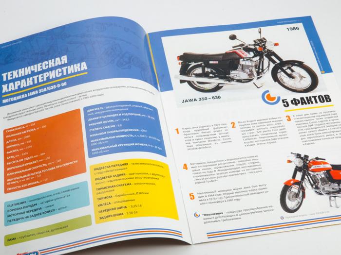 Macheta motocicleta cehoslovaca Java 350/638, scara 1:24 14