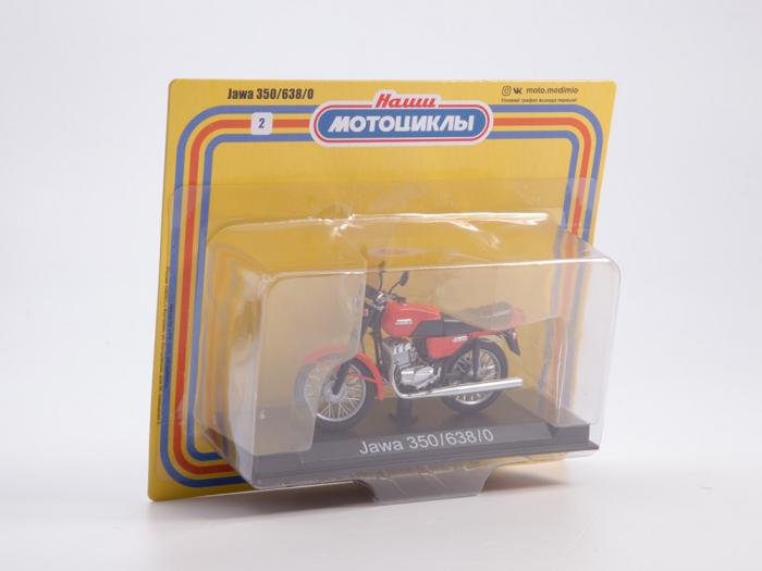 Macheta motocicleta cehoslovaca Java 350/638, scara 1:24 12