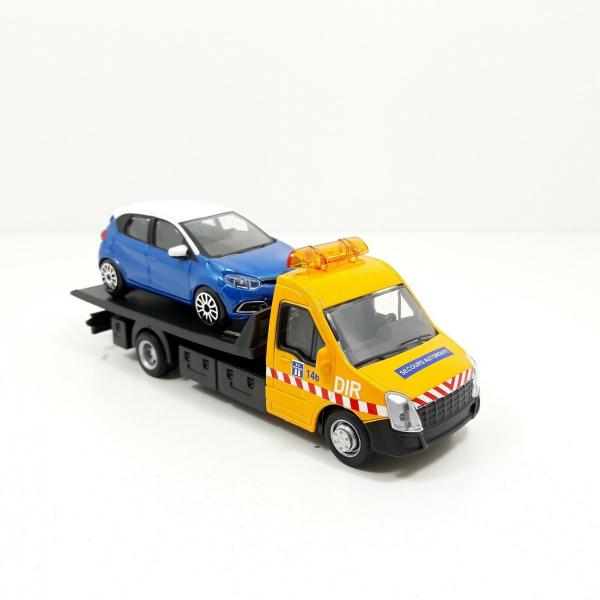 Macheta platforma depanare auto Iveco Daily si Renault Captur, scara 1:43 0