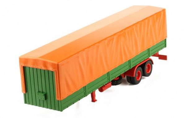 Macheta semiremorca cu prelata, verde/portocaliu, scara 1:43 0