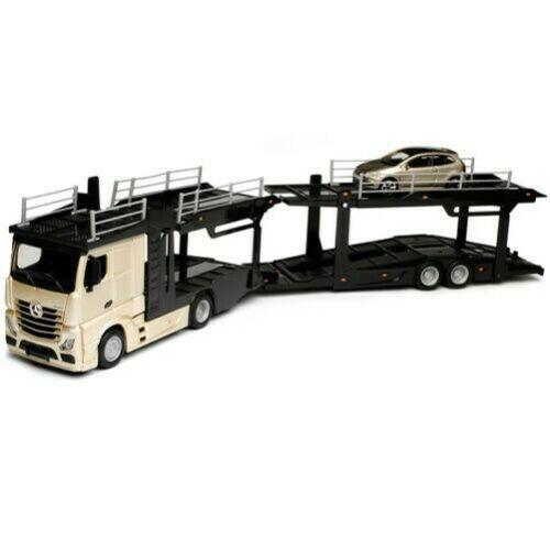 Macheta transportor auto Mercedes Actros si Volkswagen Polo, scara 1:43 [0]