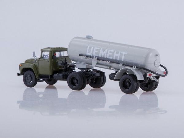Macheta ZIL-130V1 cu cimentruc TC-4 scara 1:43 3