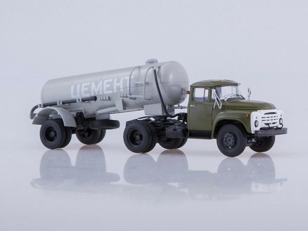 Macheta ZIL-130V1 cu cimentruc TC-4 scara 1:43 1