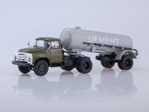 Macheta ZIL-130V1 cu cimentruc TC-4 scara 1:43 0