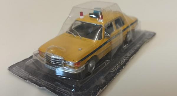 Macheta auto FMercedes Benz W116, militia sovietica, scara 1:43 - cu mic defect: sigla rupta 1