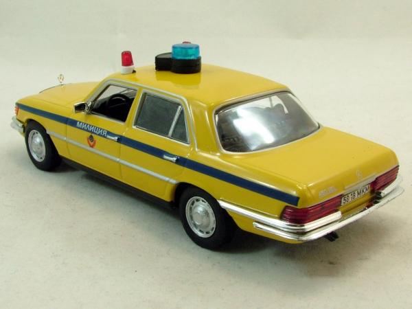 Macheta auto FMercedes Benz W116, militia sovietica, scara 1:43 1