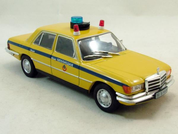 Macheta auto FMercedes Benz W116, militia sovietica, scara 1:43 0